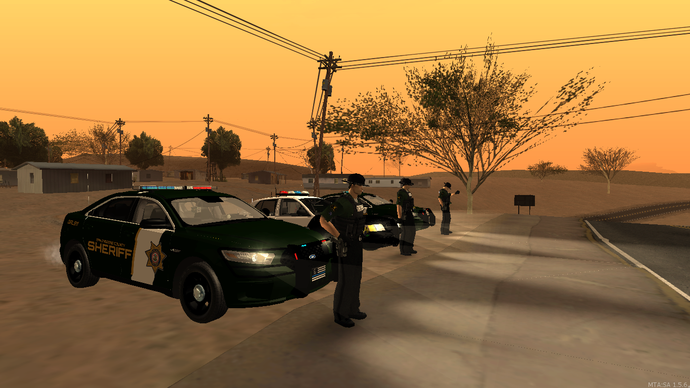 Sheriff Deputies at the end of a patrol. - posted by WolfSchultz