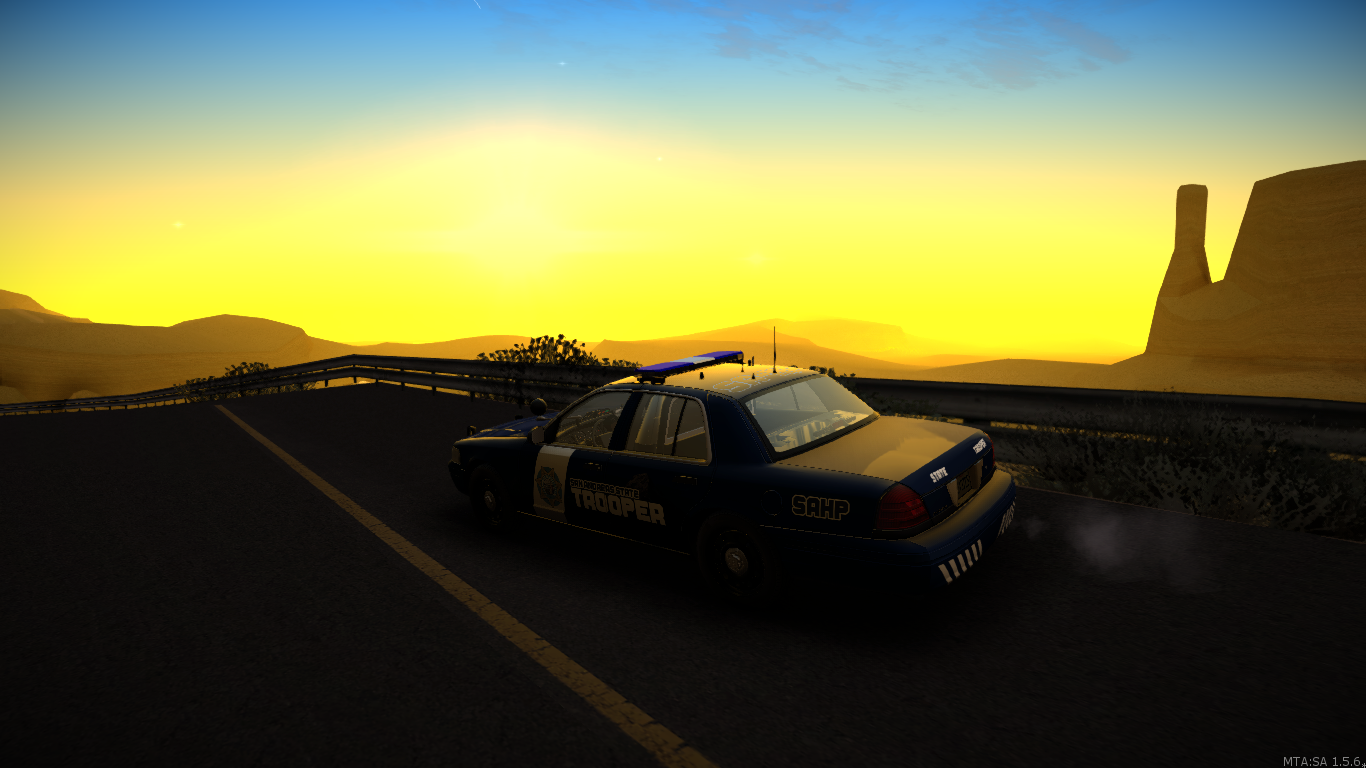 Highway patrol speed trap. - posted by WolfSchultz