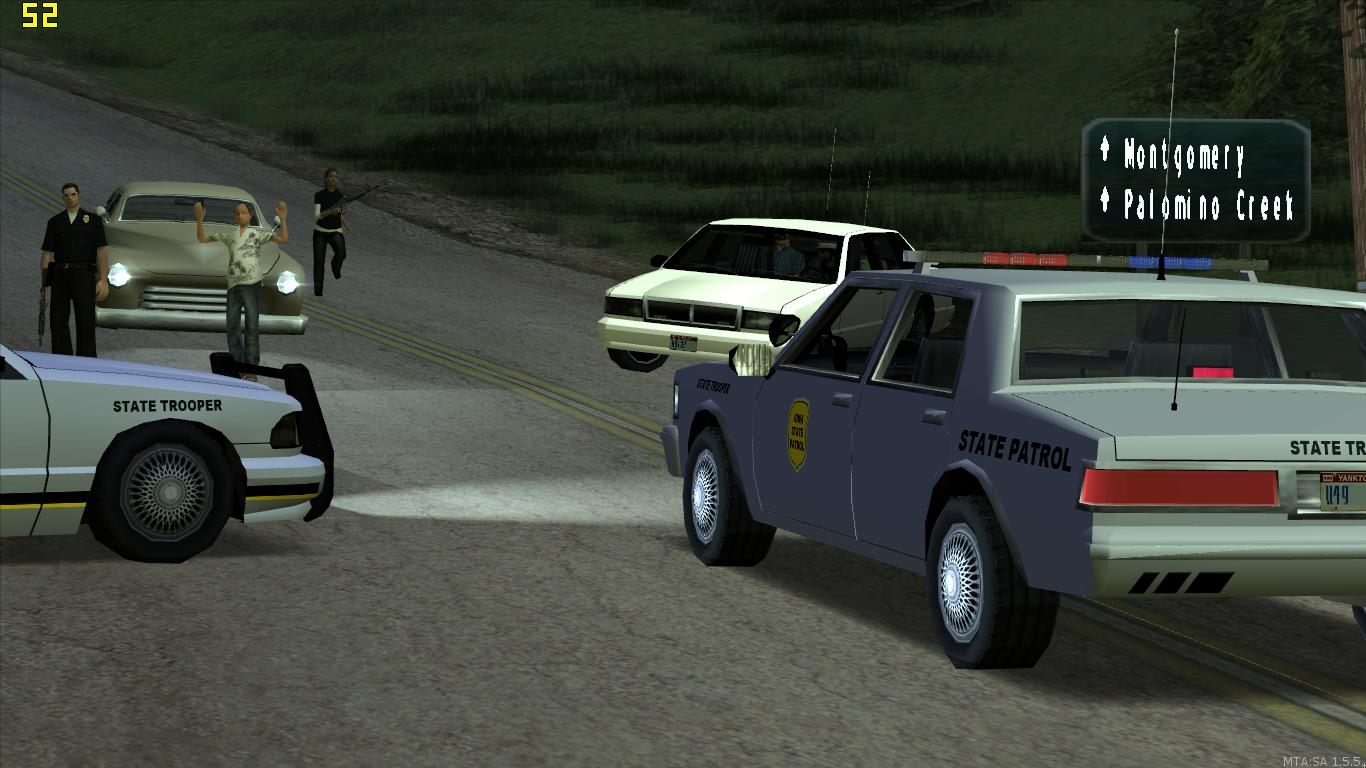 State troopers and a commercial vehicle enforcement officer handles a call for service east of Dillimore. - posted by Thatoneiowan