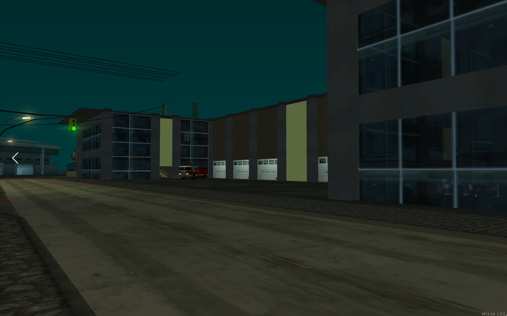 Upcoming Fire Department at night - posted by Tosfera