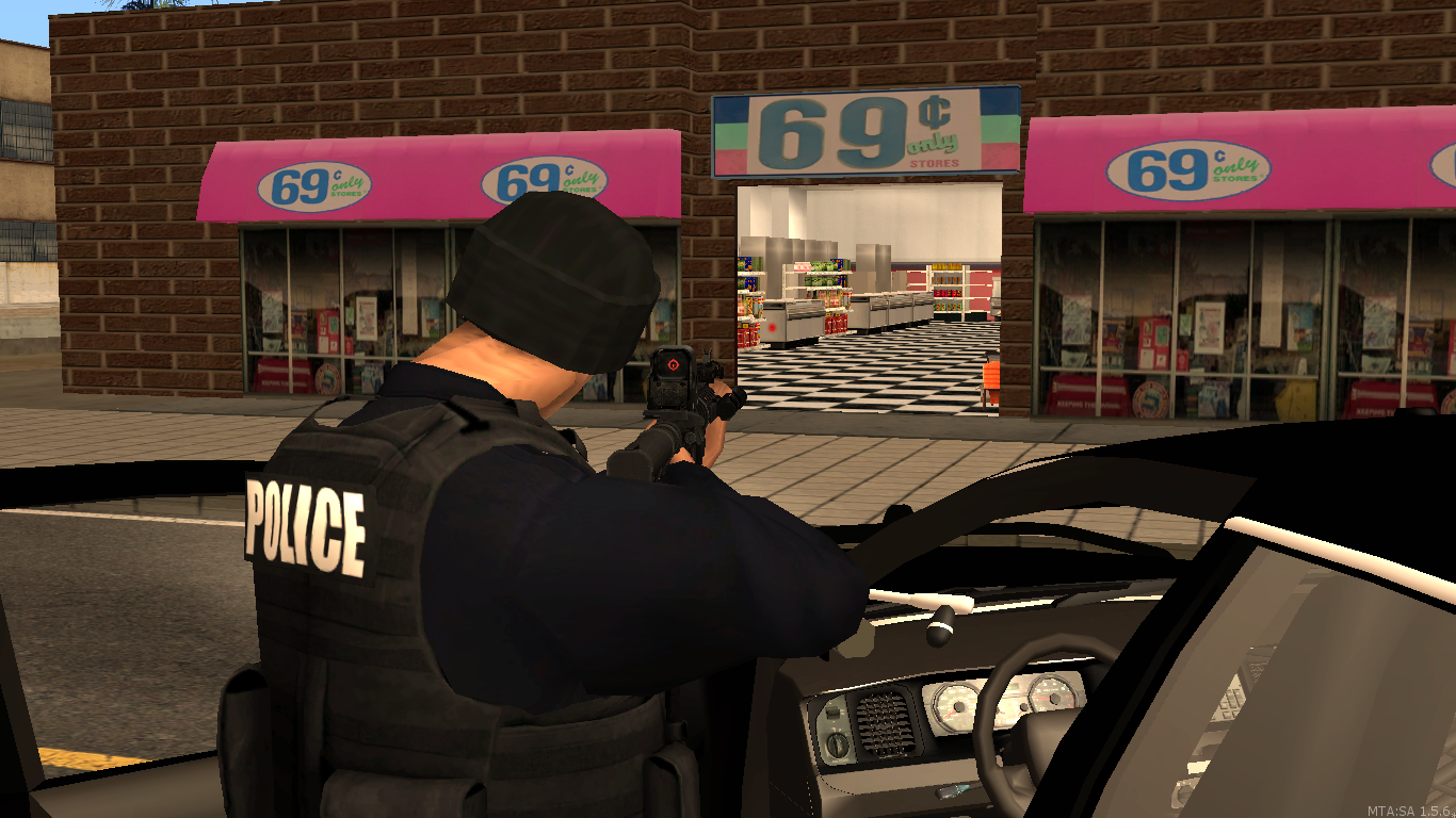 on scene of an armed robbery - posted by WolfSchultz