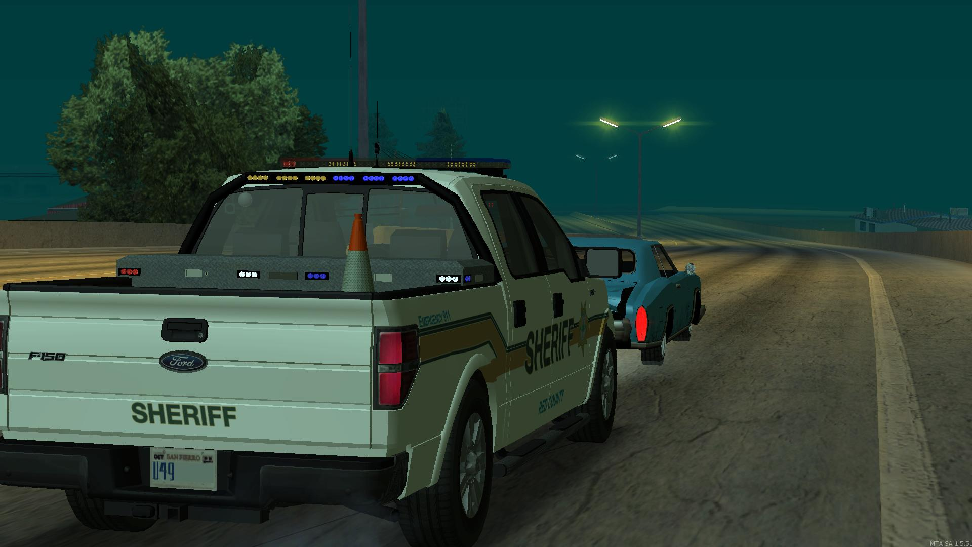 A Red County Sheriff's Office deputy stops a vehicle being driven by a wanted subject. - posted by Thatoneiowan