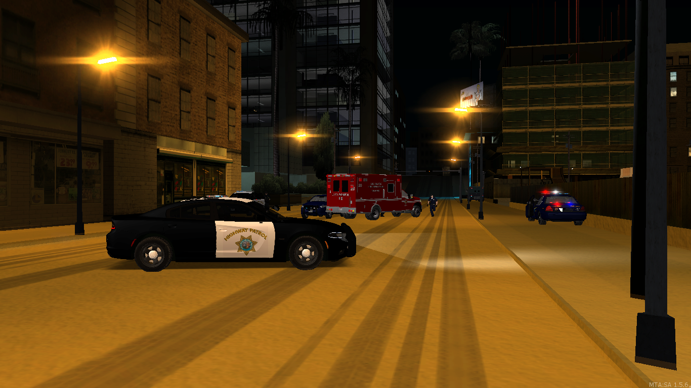 SAHP, LSPD and the SASO after a long fight with armed robbers. - posted by WolfSchultz