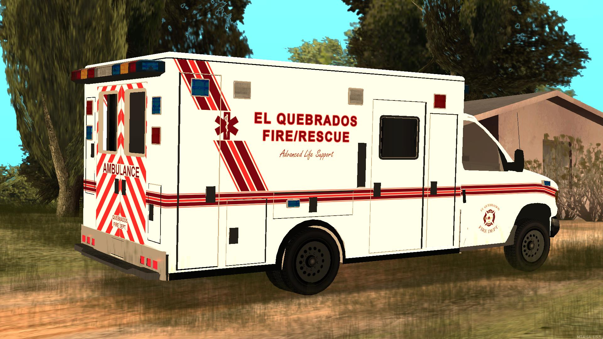 The El Quebrados Fire Department responds to a non-emergent medical call in rural El Quebrados. - posted by Thatoneiowan