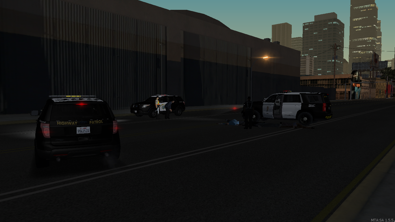 LSPD and CHP take down on gang shot out - posted by WolfSchultz