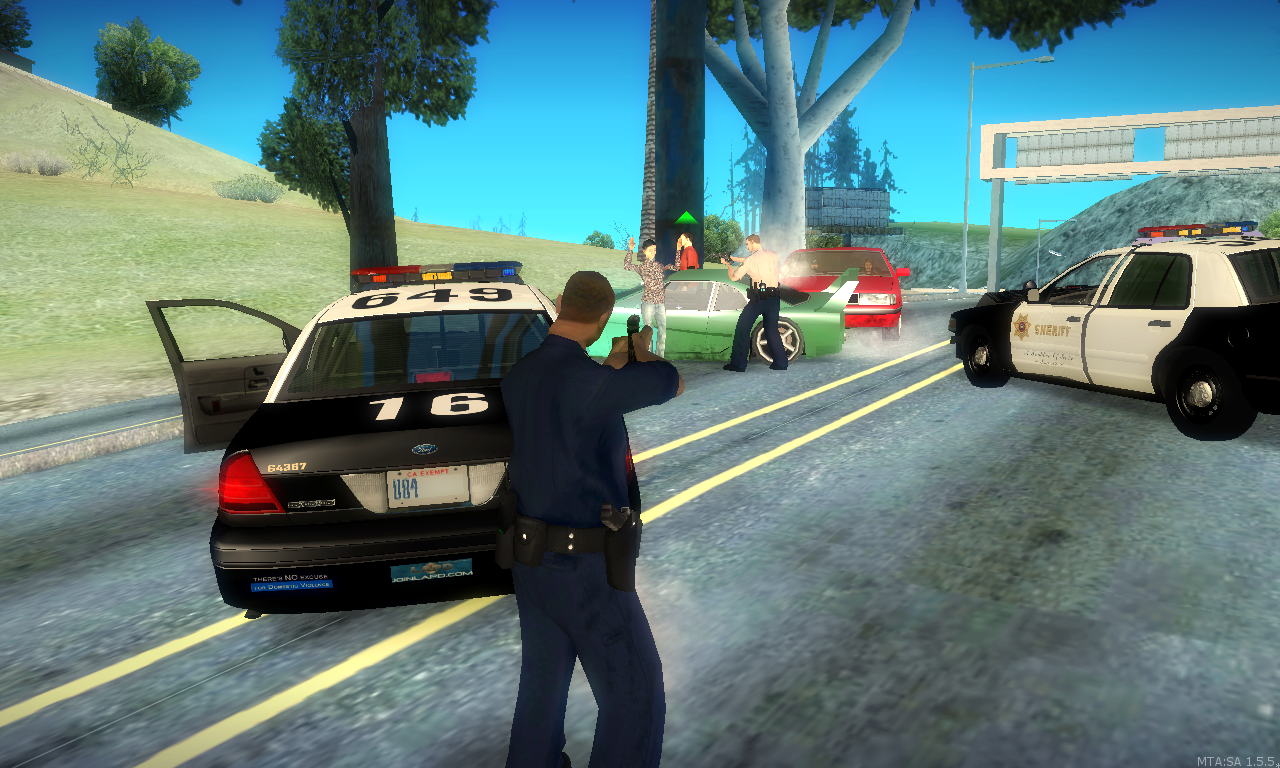 LSPD Assists SASD on a high speed pursuit in Mulholland Intersection. - posted by Caracatus1
